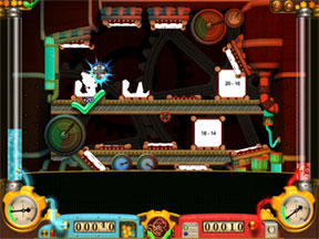 Кратките игри упражняват разпознаването на основни математически понятия.
